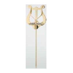 Lyra - notový držák, středně velká, 2 tlakadla, mosazná 16cm