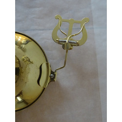 Pozounová lyra - notový držák, na ozvučník, mosazná