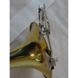 Pozounová lyra - notový držák, na ozvučník, niklovaná