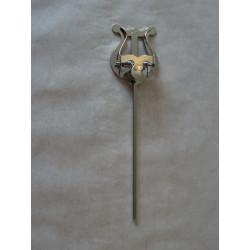 Lyra - notový držák, malá, 1 tlakadlo, niklovaná 16cm