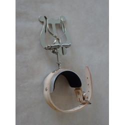 lyra - notový držák pro příčnou flétnu, uchycení na ruku, niklovaná